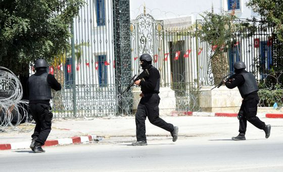 Tunisian security forces storm the Bardo Museum compound on Wednesday.