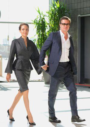 Angelia Jolie, con su marido Bard Pitt.