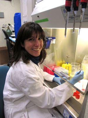 Sandra Acosta Verdugo, en su laboratorio.