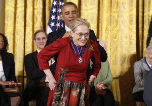 Meryl Streep y Barck Obama