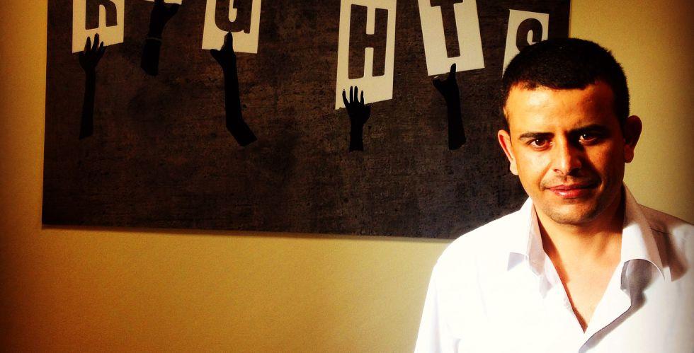 El yemení Ahmed Al-Kolaibi, uno de los defensores de derechos humanos, en York.