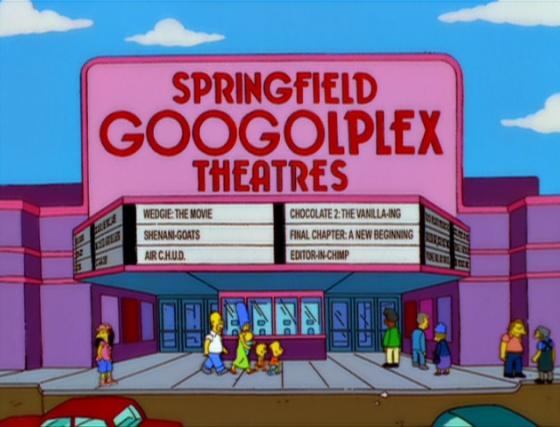 Los cines Googolplex de Springfield.
