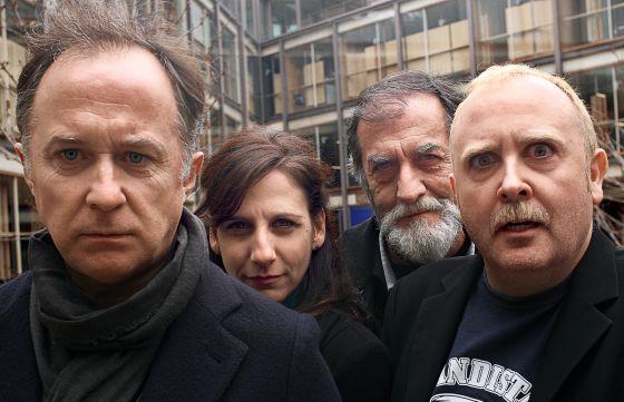 De izquierda a derecha, Luis Bermejo, Malena Alterio, Ramón Barea y Carlos Areces, secundarios infalibles que han dado saltos a notables papeles protagonistas.