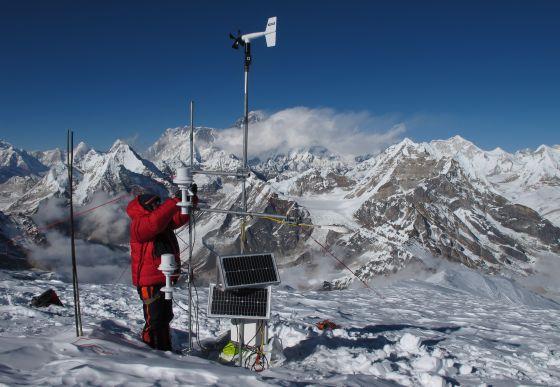 Los investigadores midieron la evolución de los glaciares de la cuenca del  Dudh Koshi, donde acaban los hielos del Everets o el Cho Oyu.