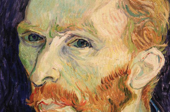 Detalle de un autorretrato de Van Gogh
