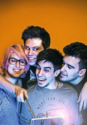 De izquierda a derecha, los 'youtubers' YellowMellow, El Rubius, Alexby y Mangel, fotografiados en Madrid.