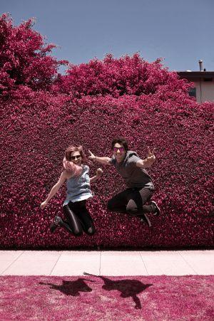 Luzu y Lana, fotografiados en Los Ángeles.
