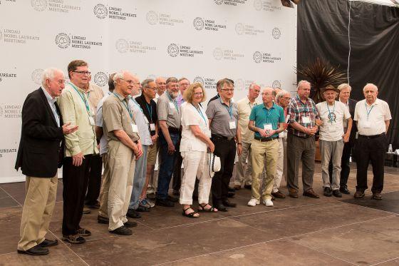 Algunos de los premios Nobel firmantes de la declaración contra el cambio climático.
