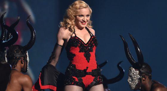 Madonna, durante una actuación.