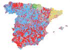El mapa del poder municipal y autonómico