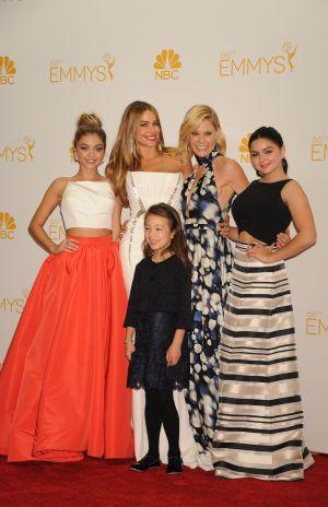 Winter (a la derecha), con algunas de sus compañeras de reparto de 'Modern family' en la pasada edición de los Emmy.