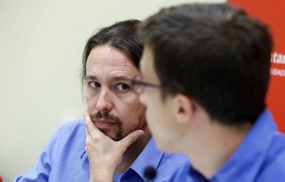 Iñigo Errejón, Pablo Iglesias y Juan Carlos Monedero, en los cursos de El Escorial