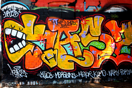 Los grafitis también entroncan con movimientos artísticos tan berlineses  como eldadaísmo o el expresionismo,a través de la obra de artistas como  Beckman,