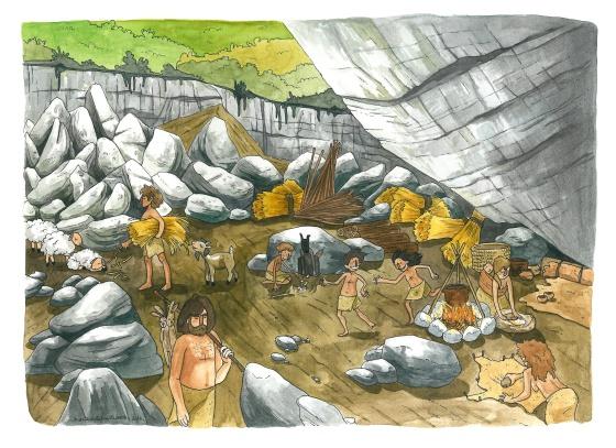 Recreación de la vida neolítica en Atapuerca