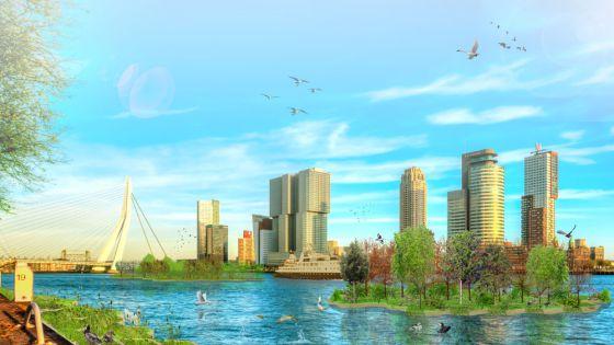 Así será el Parque Reciclado construido con los desechos acumulados en el agua