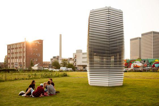 Así es la mayor purificadora de aire del mundo.