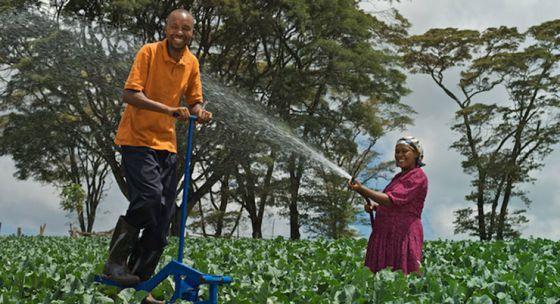 Un agricultor usa el MoneyMaker en sus campos.