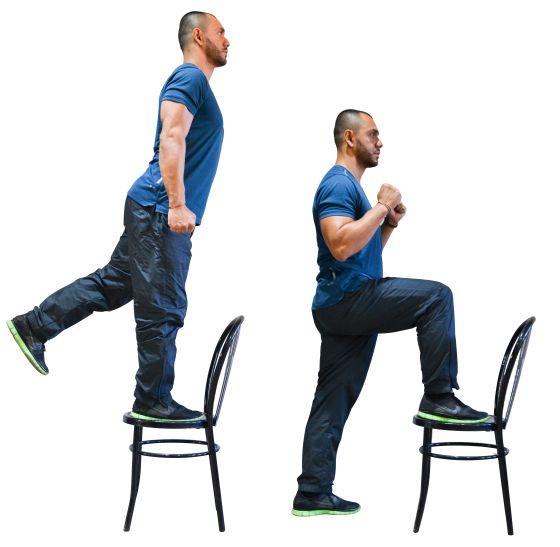 Gratis en casa e infalible siete ejercicios con una - Sillas para subir escaleras personas mayores ...