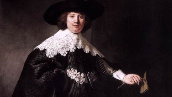 Maerten Soolmans retratado por Rembrandt.