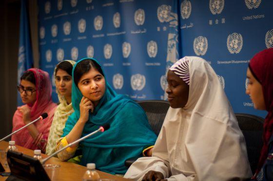 Malala ha sido contundente en su discurso en Naciones Unidas, una cita a la que ha acudido acompañada por un grupo de amigas.