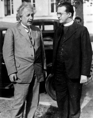 Einstein y Lemaître, juntos en California en 1933.