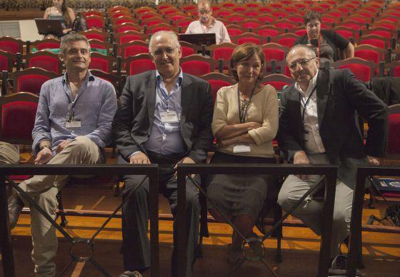 Exdirectores del CSIC: Juan José Negro, Manuel de León, Carmen Castresana y Juan Lerma