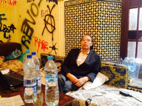 Maati Monyib durante su huelga de hambre
