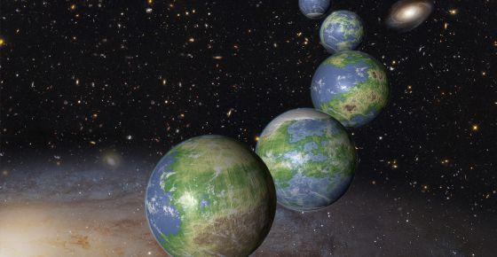 Una ilustración de los innumerables planetas parecidos a la Tierra que aún están por nacer en el próximo billón de años.