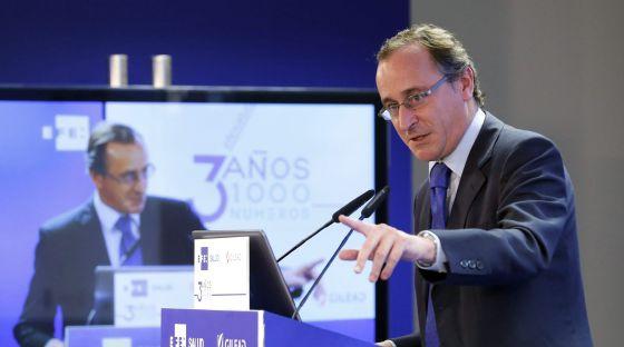 El ministro de Sanidad, Alfonso Alonso, durante su intervención en el acto de EFEsalud.