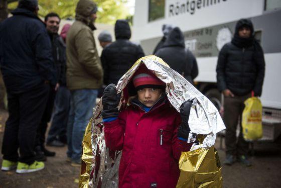 Un niño de cinco años, en una clínica de tuberculosis en Berlín