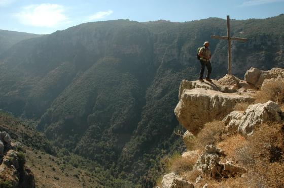 Gilbert Moukheiber, empresario de ecoturismo, en el Valle de Qadisha.