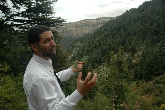El libanés Pascal Abdallah, en el bosque de cedros de Horsh Ehden.