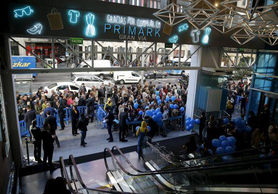 Apertura de la tienda de Primark en la madrileña Gran Vía, el pasado 15 de octubre.