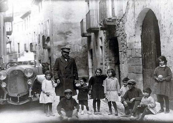 Einstein en Espluga de Francolí (Tarragona), el 25 de febrero de 1923.