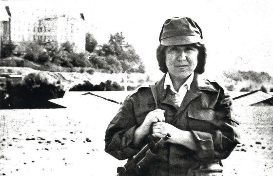 Alexiévich, en 1988 en Kabul, durante la invasión soviética de Afganistán.