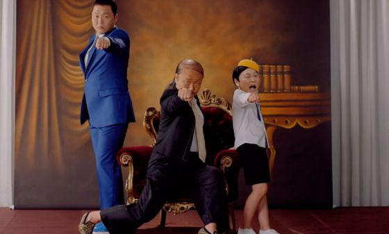 Fotograma del vIdeo 'Daddy' de PSY