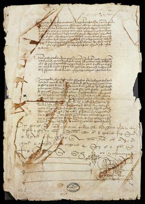 Las Capitulaciones de Santa Fe, de 1492.