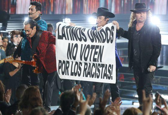 Protesta de Maná y Los Tigres del Norte en la última entrega de los Grammy Latinos.