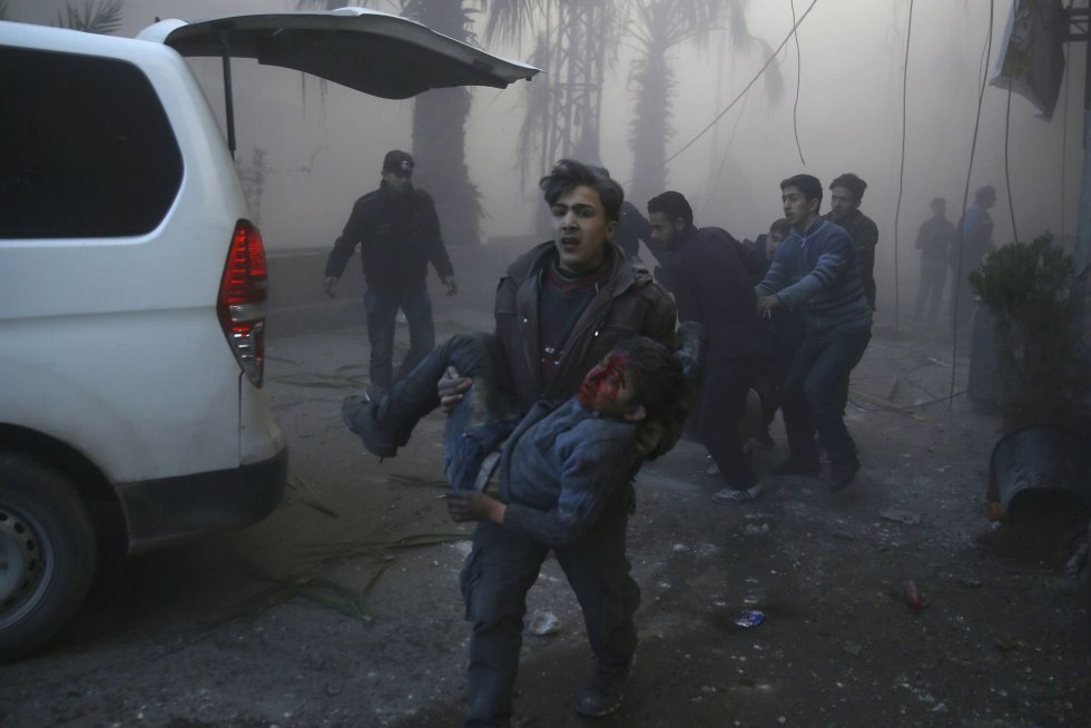 Baños Para Ninos Rebeldes: de Hamouria, en la zona oriental de Ghouta, un bastión rebelde al