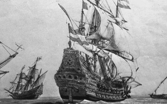 El galeón 'San José' de la Armada española, en un grabado de la época.