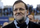 El presidente Mariano Rajoy a su llegada al mitin de campaña celebrado el domingo en Las Rozas.