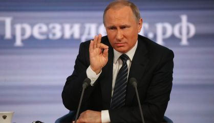 Putin, durante la rueda de prensa de este jueves.