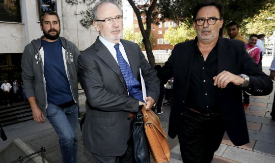 Rodrigo Rato leaves court in Madrid in October.