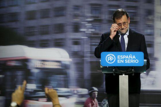 Un gesto de Mariano Rajoy durante su conferencia de prensa del 21 de diciembre.