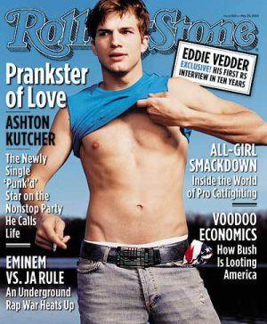 Ashton Kutcher en la portada de la revista 'Rolling Stone'.