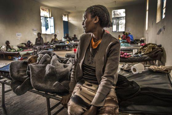 Mujeres atendidas en un hospital de Etiopía.