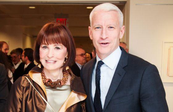 Gloria Vanderbilt, y su hijo, el presentador Anderson Cooper.