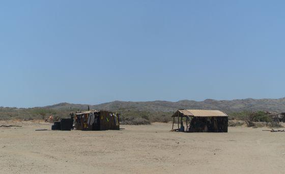 Casas en una Comunidad cercana a la Alta Guajira