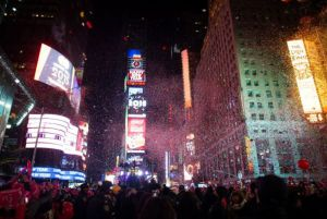 Celebración del Año Nuevo 2015 en Nueva York.