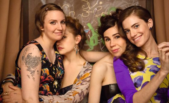 Las protagonistas de la serie 'Girls'.